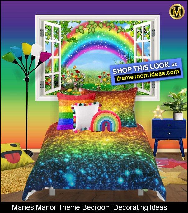 rainbow bedding rainbow bedroom hippie rainbow room ideas rainbow pillow rainbow mural