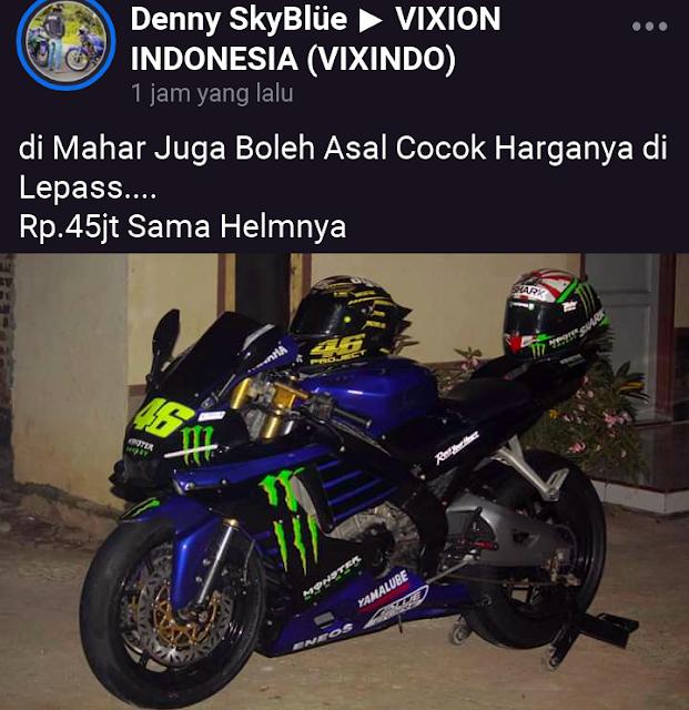 Wow Ada Yamaha R1 Seharga 45 Juta !!!