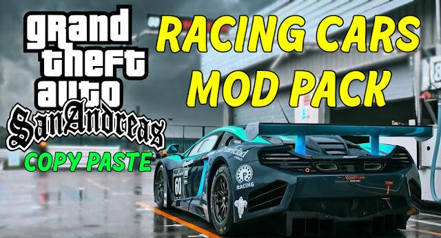 GTA San Andreas Racing Cars Mod Pack Pc