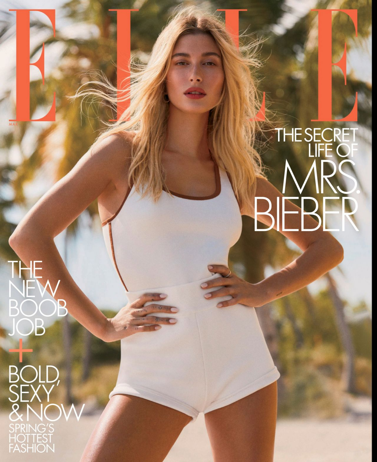 Hailey Rhode Bieber - ELLE Magazine US March 2020 Issue