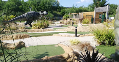 Tee-Rex Adventure Golf course at Cardiff Golf Centre. Photo by Martyn Williams, June 2020