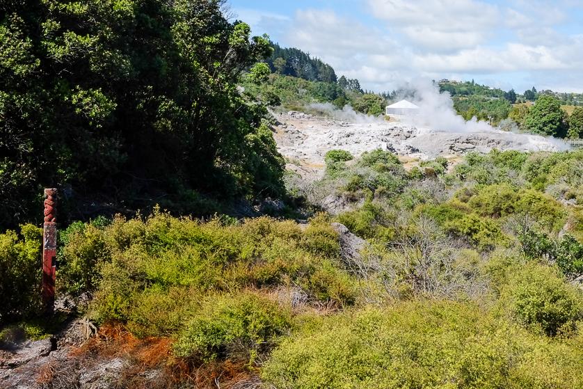 The geothermal landscape of Whakarewarewa Village