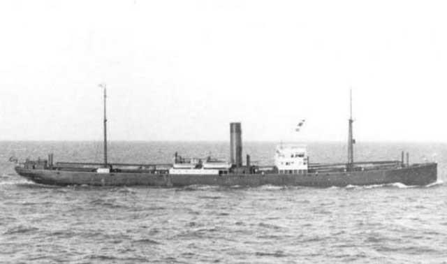 Dutch freighter SS Boeroe, sunk on 25 February 1942, worldwartwo.filminspector.com