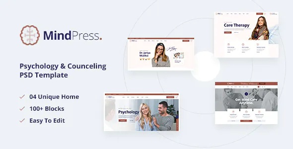 Best Psychology & Counseling PSD Template