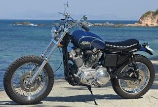 sportster 883 scrambler desert blu