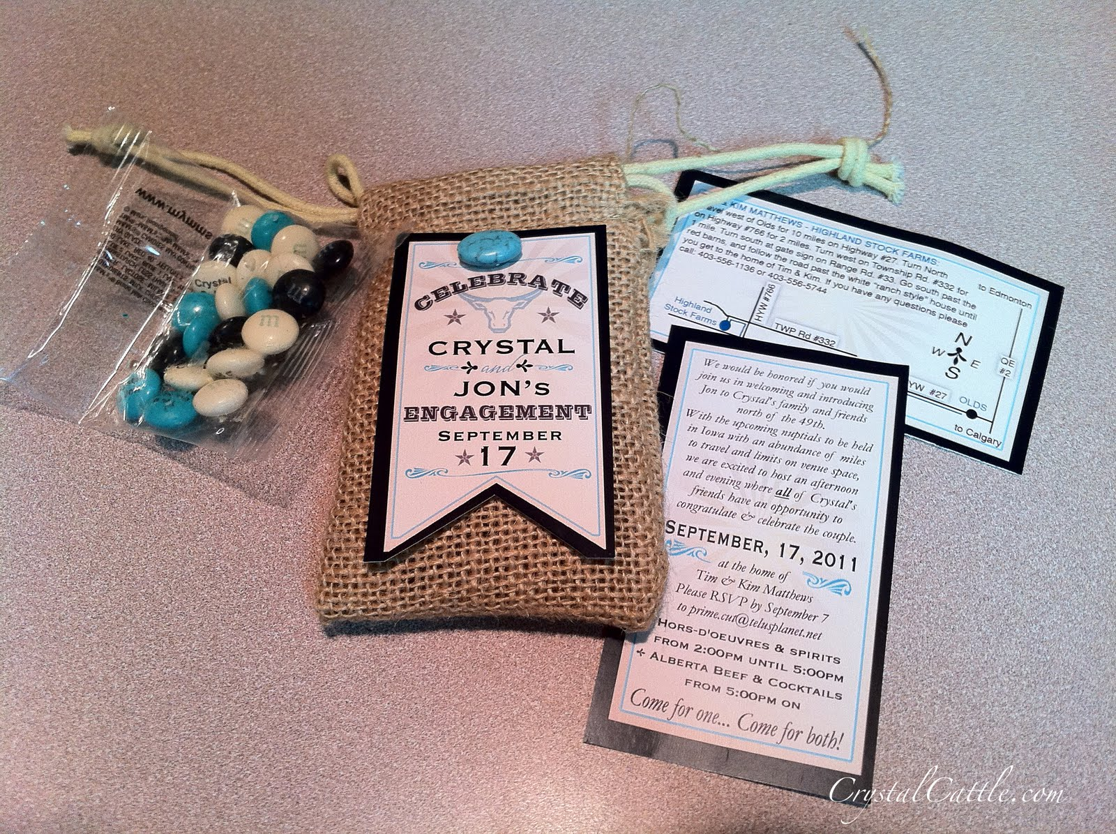 Wedding Invitations Turquoise: Crystal Cattle: Turquoise Wedding Invites