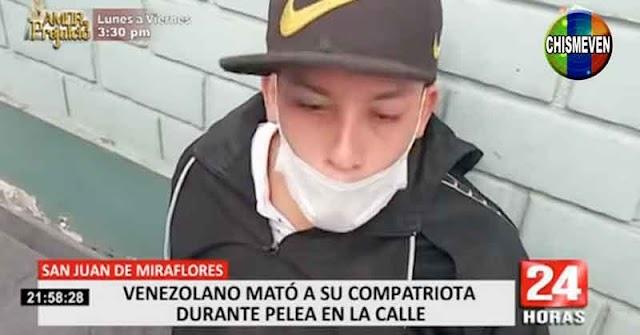 Un venezolano asesinó a otro durante una pelea callejera en Perú