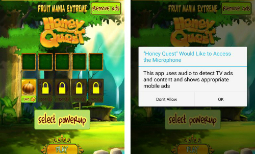 Trò chơi yêu cầu cấp phép sử dụng micro trong khi bản thân cách chơi không cần tương tác.