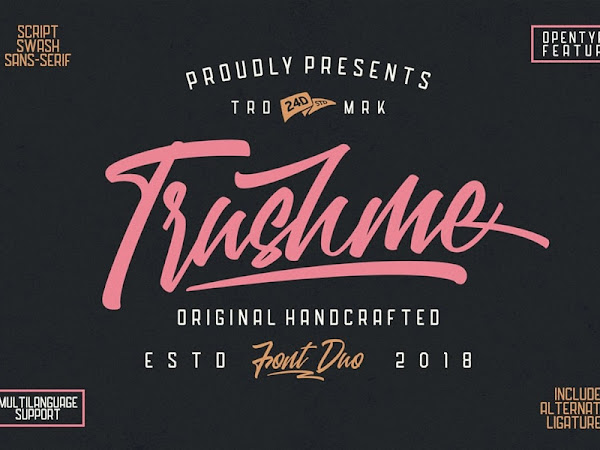Trushme Script Font Free Download