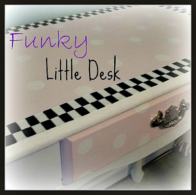 Vintage, Paint and more... a thrift store desk painted with chalk paint to make a fun and whimsical desk for a little girls room