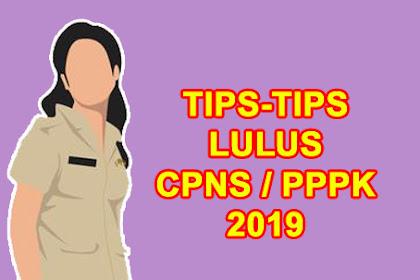 Tips Sukses Lulus CAT CPNS & PPPK 2019