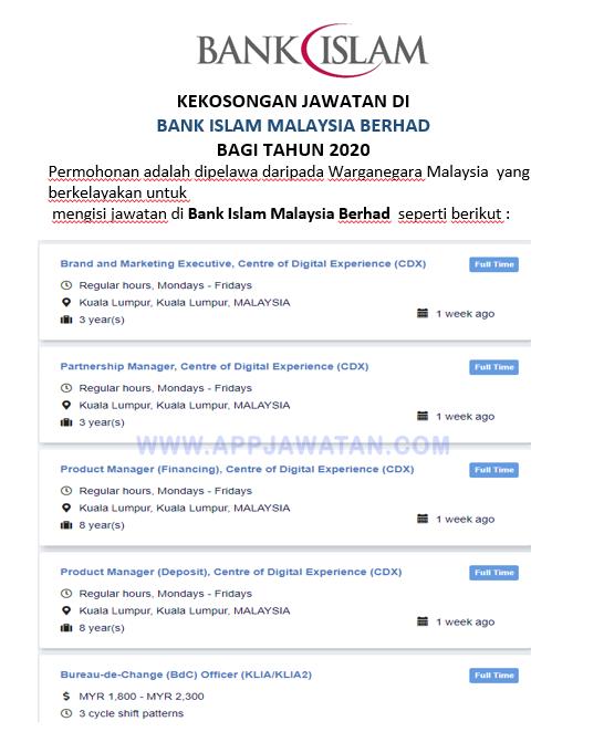 Jawatan Kosong di Bank Islam Malaysia Berhad