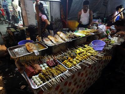 Yangon street food at Chinatown looks good