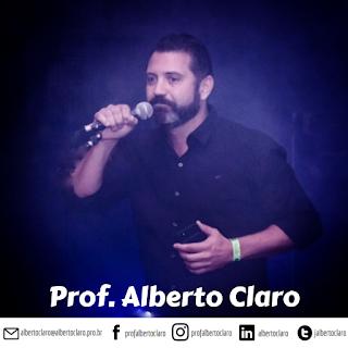 mídias sociais do prof. Alberto Claro