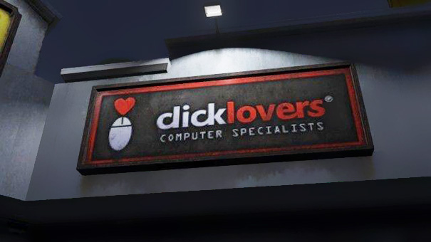 Aviso click lovers se lee como dick lovers