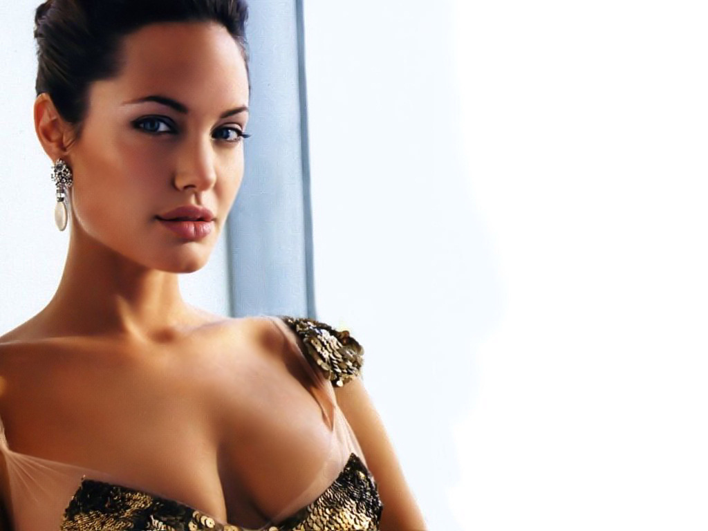 Angelina jolie boob size accept. The