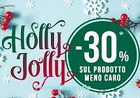 Logo Pittarello Holly Jolly 30% di sconto sul prodotto meno caro