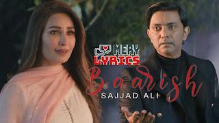 Baarish By Sajjad Ali - Lyrics