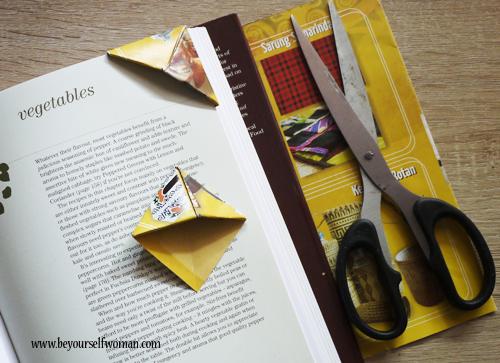 cara membuat pembatas buku kertas