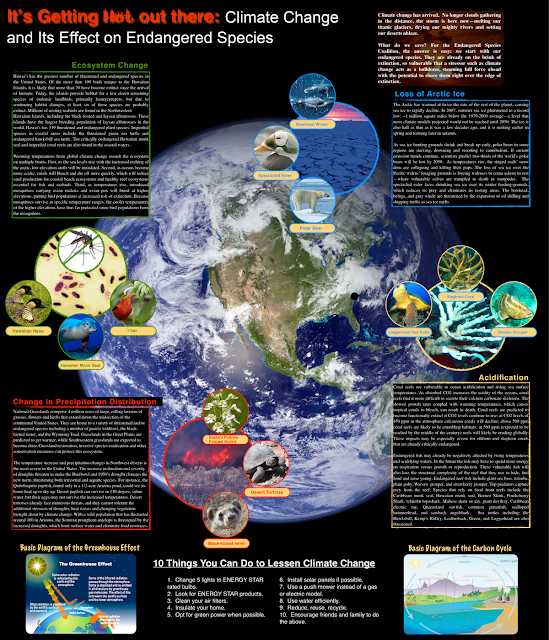 Climate change and it's effects on endgangered species