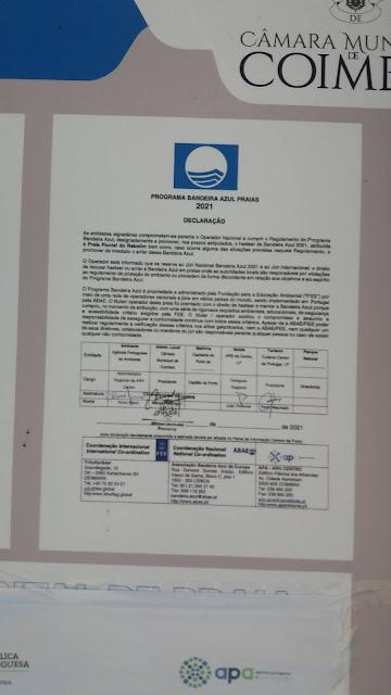 Programa de Bandeira Azul Praia do Rebolim