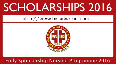 Lam Wah Ee Nursing College Sponsorship 2016