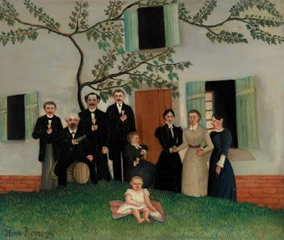 """""""A Família"""" (circa 1890), pintura de Henry Rousseau (1844-1910) pertencente ao acervo da Barnes Foundation, Filadélfia, Estados Unidos."""