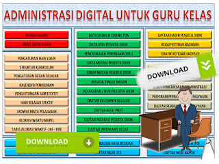 41 File Administrasi Guru Kelas 4 SD/MI Format Words