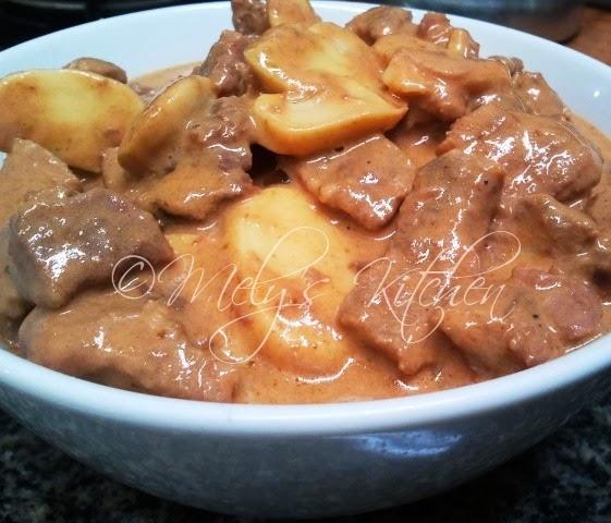 Beef Stroganoff (Filipino Style) - Mely's kitchen