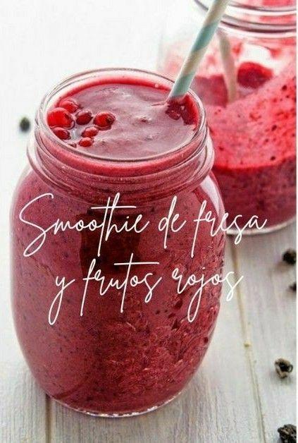 batidos-de-fresa #smoothies #jugos #batidos #frutas