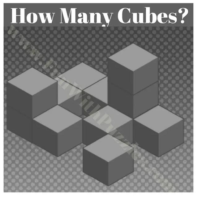 Can you count the Number of Cube you can see in this Puzzle Picture?