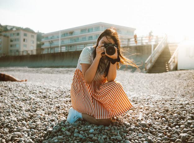 Sommerkleid mit Streifenmuster