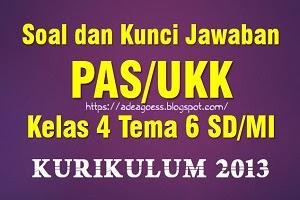 Download Soal dan Kunci Jawaban PAT/UKK Kelas 4 Tema 6 SD/MI Kurikulum 2013