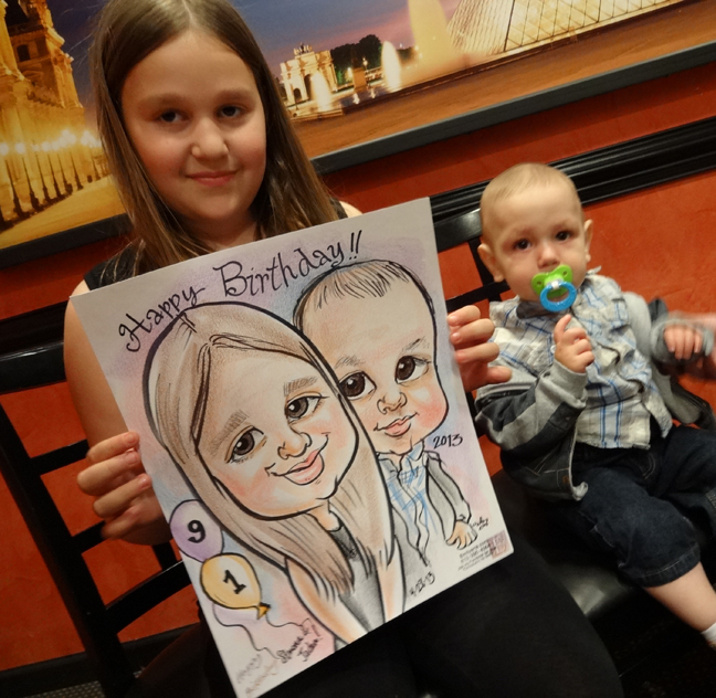 Emilys Caricature And Silhouette Blog Big Birthday Party