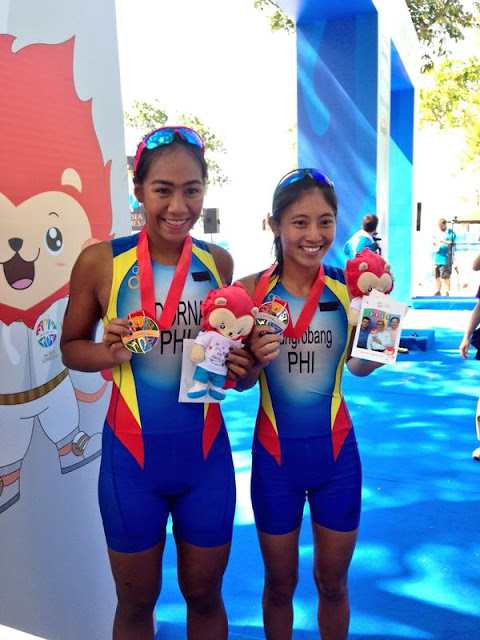 Triathlete Claire Adorna wins first gold for PH at SEA Games 2015