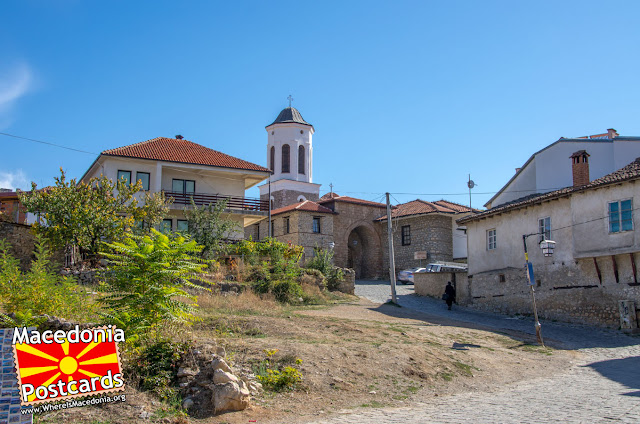 Влез во комплексот Црква Пресвета Богородица Привлептос (Св. Климент) - Охрид, Македонија