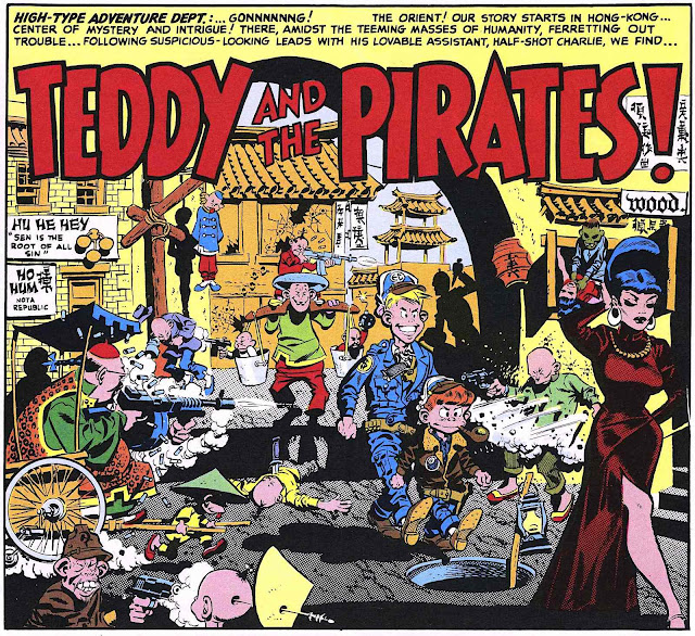 a 1950s Wallace Wood color story panel for MAD, Teddy and the Pirates