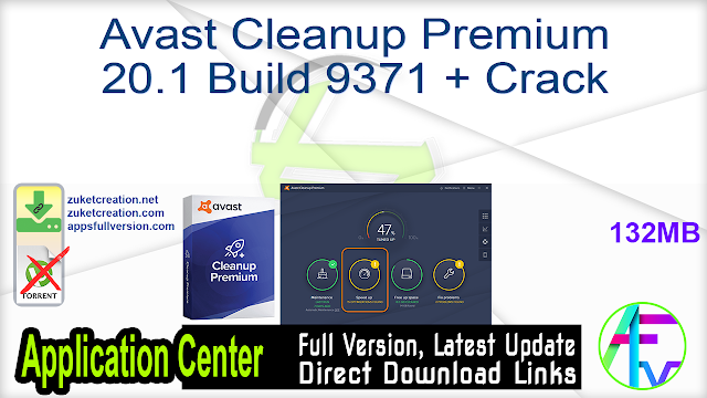 Avast Cleanup Premium 20.1 Build 9371 + Crack