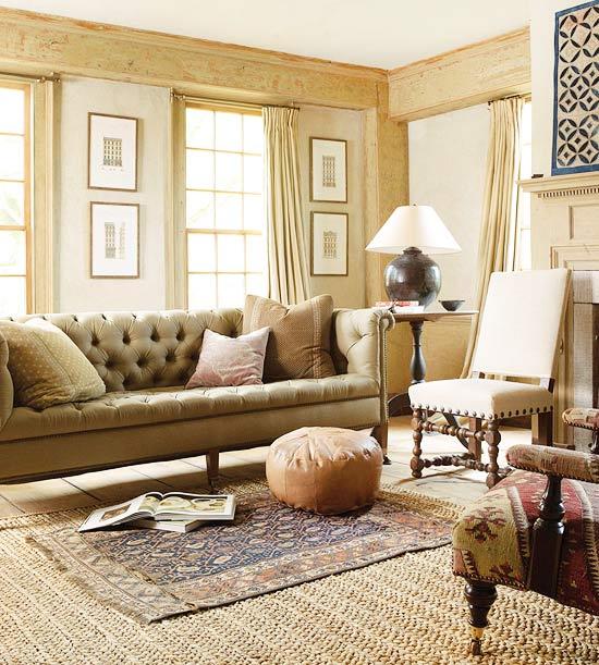 ideen fürs Wohnzimmer sofa kissen fenster gardinen ...