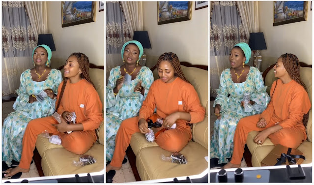 Regina Daniels Buys Waistbeads, Other 'Kayamata' Products Worth ₦5 Million From Jaruma Empire