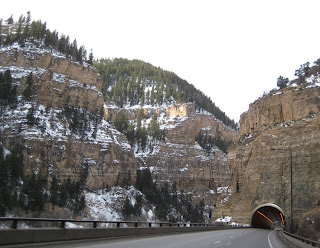 Elevated Interstate 70 through Glenwood Canyon