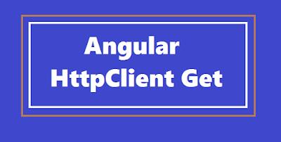 Angular HttpClient Get