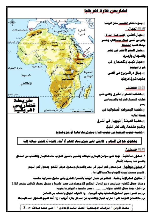تلخيص الوحدة الأولى دراسات للصف الثالث الاعدادي ترم أول أ/ على محمد عبد الله 0%2B%25287%2529