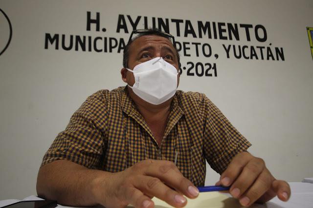 alcalde de Peto, Edgar Calderón Sosa. Foto Antonio Sánchez González