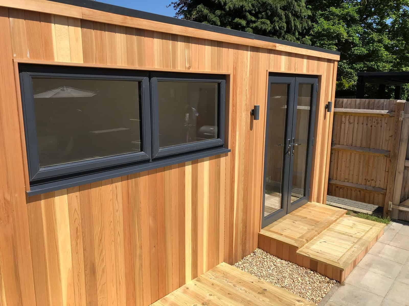 A cube garden office design from modern garden rooms