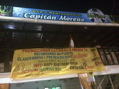 bar restaurante capitán moreno, puntarenas, cumbia, swing criollo, recordando mi puerto
