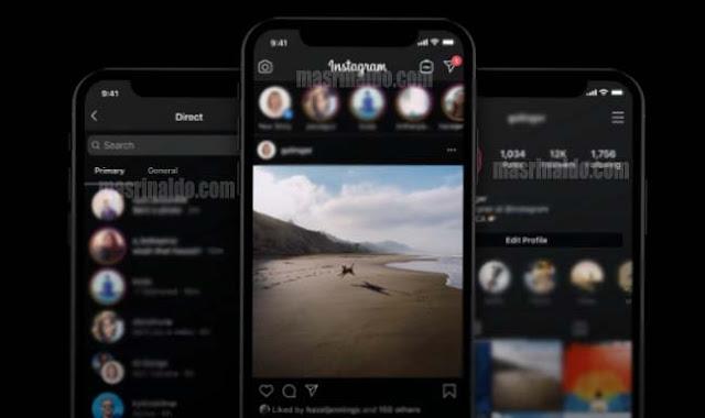 Cara Menghidupkan Fitur Mode Dark Tema Instagram di android dan iphone 1