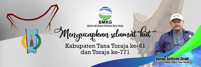 Di HUT Tana Toraja,  Kepala BMKG Berharap Masyarakat Lebih Sadar Akan Prakiraan Cuaca