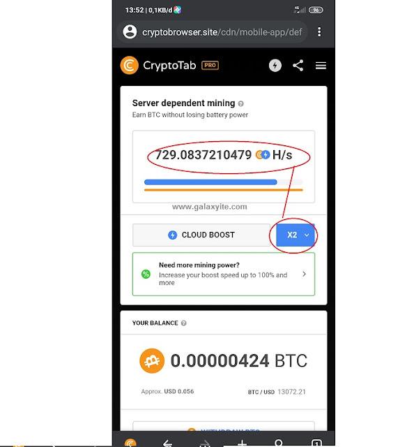 Cara Cepat mining di Aplikasi Cryptotab Browser