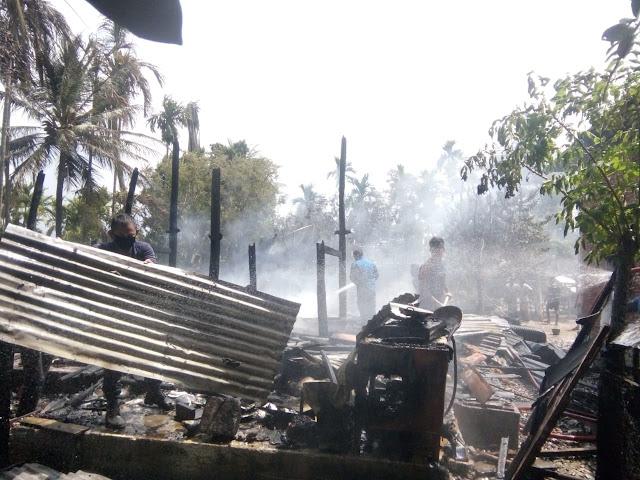 Satu Unit Rumah Panggung Di Gampong Simbe Hangus Terbakar